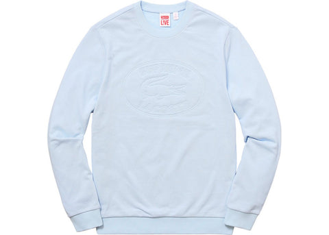 Supreme Lacoste Pique Crewneck Light Blue