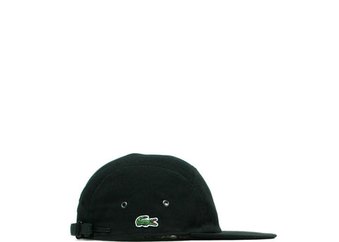 Supreme Lacoste Pique Knit Camp Cap Black