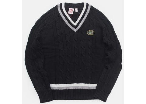 Supreme Lacoste Tennis Sweater Black