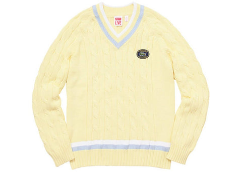 Supreme Lacoste Tennis Sweater Light Yellow