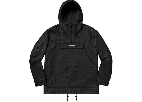Supreme Leather Anorak Black