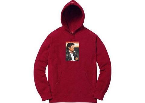 Supreme Michael Jackson Hooded Sweatshirt Cardinal