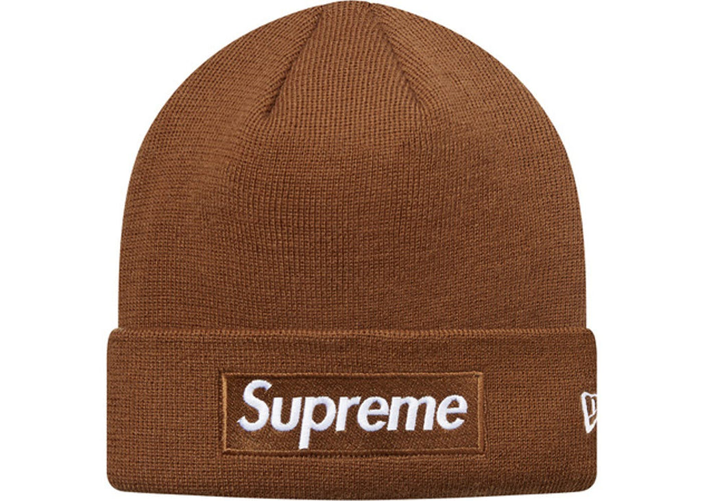 Supreme New Era Box Logo Beanie (FW16) Brown – Cop-room defc77e7651