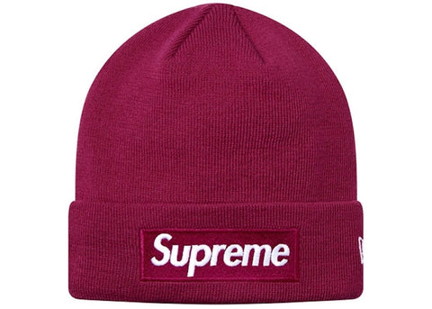 Supreme New Era Box Logo Beanie Fuchsia
