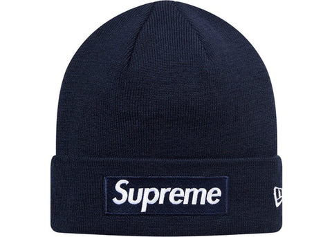 Supreme New Era Box Logo Beanie (FW16) Navy