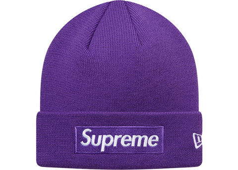Supreme New Era Box Logo Beanie (FW16) Purple