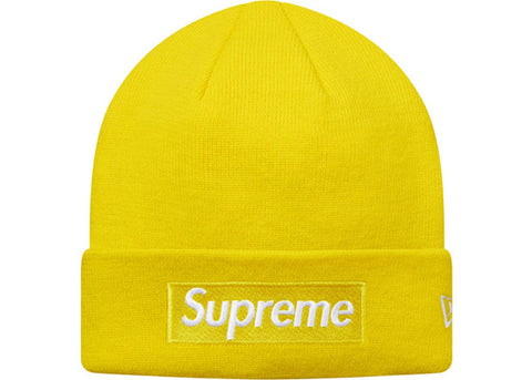 Supreme New Era Box Logo Beanie (FW16) Yellow