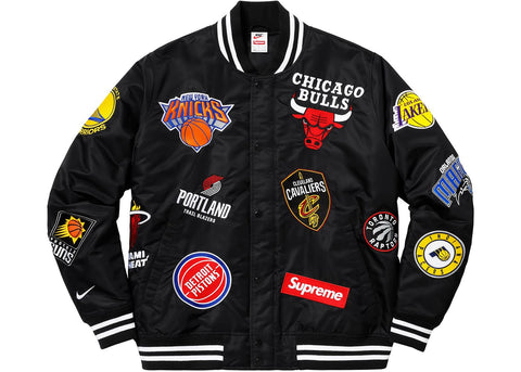 Supreme Nike/NBA Teams Warm-Up Jacket Black