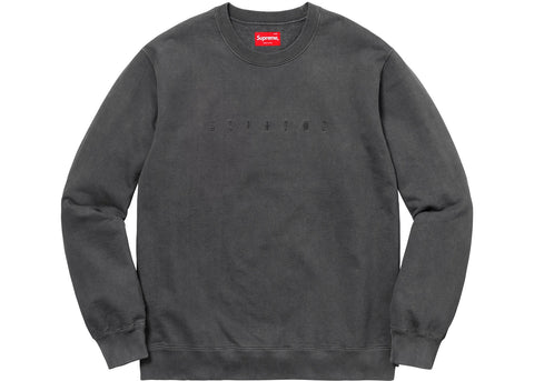 Supreme Overdyed Crewneck Sweatshirt Black