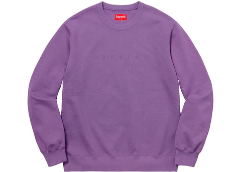 Supreme Overdyed Crewneck Sweatshirt Purple