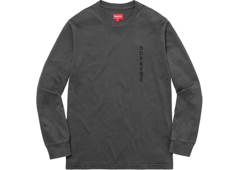 Supreme Overdyed L/S Top Black