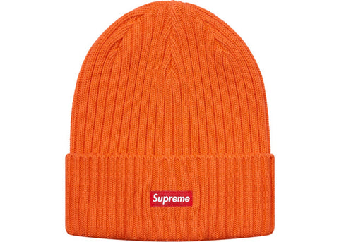Supreme Overdyed Ribbed Beanie (SS18) Washed Orange