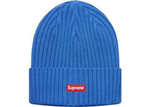 Supreme Overdyed Ribbed Beanie (SS18) Washed Royal