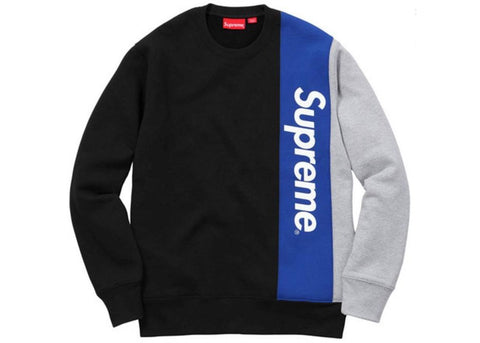Supreme Panelled Crewneck Black