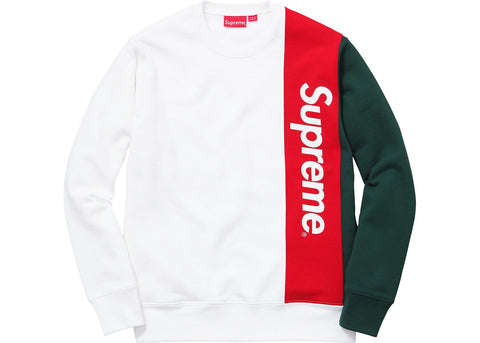Supreme Panelled Crewneck White