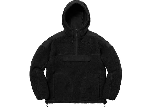 Supreme Polartec Hooded Half Zip Pullover Black