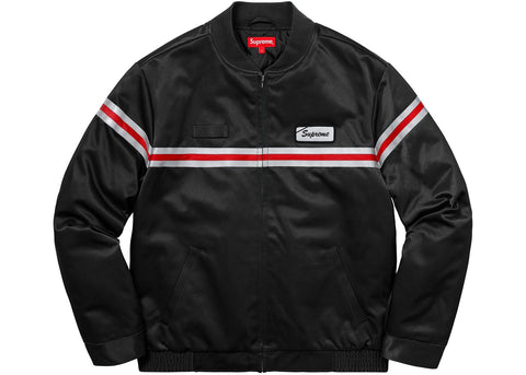 Supreme Reflective Stripe Work Jacket Black