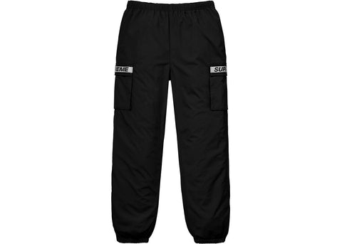 Supreme Reflective Taping Cargo Pant Black