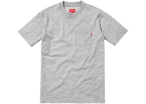 Supreme S/S Pocket Tee Heather Grey