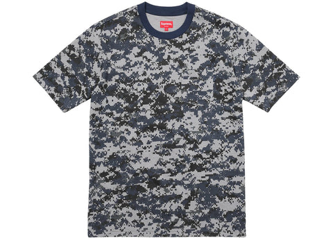 Supreme S/S Pocket Tee Navy Digi Camo