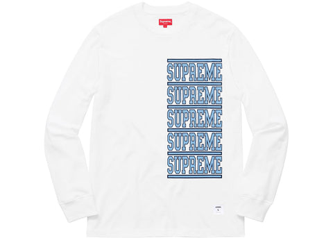 Supreme Stacked L/S Top White