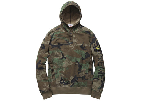 Supreme Stone Island Hooded Sweatshirt Woodland Camo
