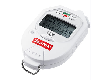 Supreme Tag Heuer Pocket Pro Stopwatch White