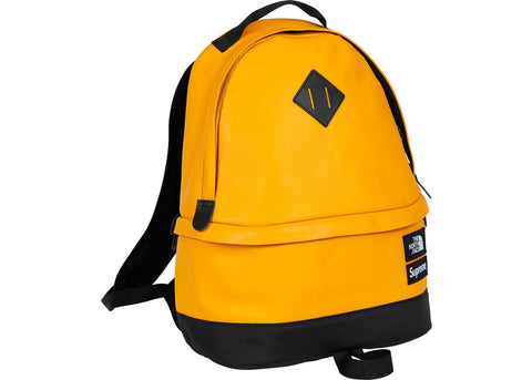 Supreme The North Face Leather Day Pack Yellow