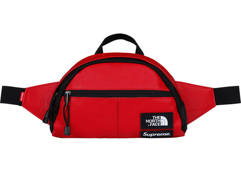 Supreme The North Face Leather Roo II Lumbar Pack Red