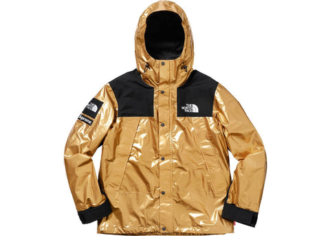 Supreme The North Face Metallic Mountain Parka Gold