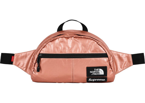 Supreme The North Face Metallic Roo II Lumbar Pack Rose Gold