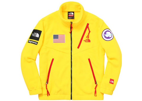 Supreme The North Face Trans Antarctica Expedition Fleece Jacket Yellow