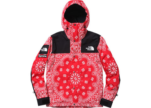 Supreme The North Face Bandana Mountain Jacket Red
