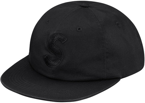Supreme Tonal S Logo 6-Panel Black