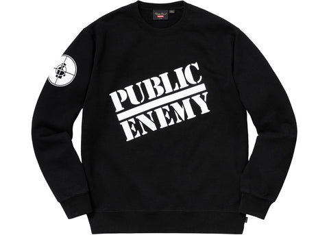 Supreme UNDERCOVER/Public Enemy Crewneck Sweatshirt Black