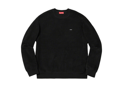 Supreme Polartec Small Box Crewneck Black