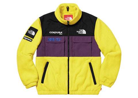 Supreme The North Face Expedition Fleace Jacket Yellow