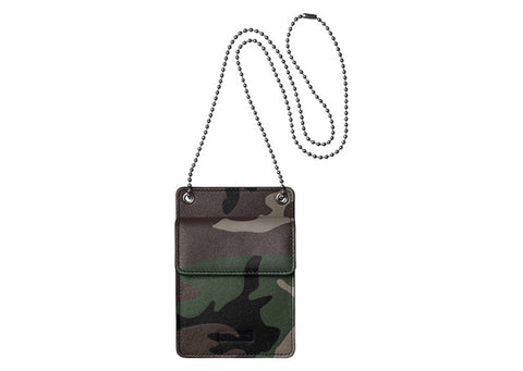 Supreme Leather ID Holder + Wallet Woodland Camo
