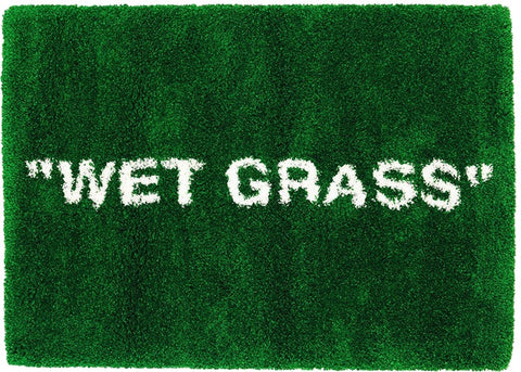 "Virgil Abloh x IKEA MARKERAD ""WET GRASS"" Rug Green"
