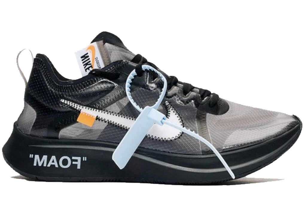 --Nike Zoom Fly Off-White Black Silver--