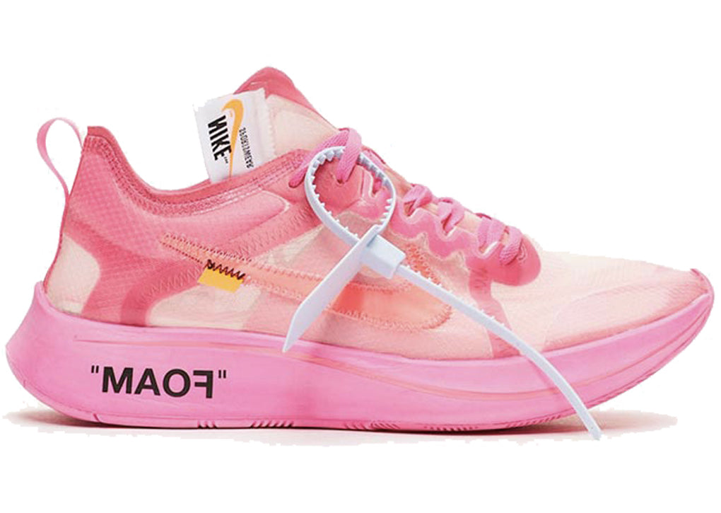 --Nike Zoom Fly Off-White Tulip Pink--
