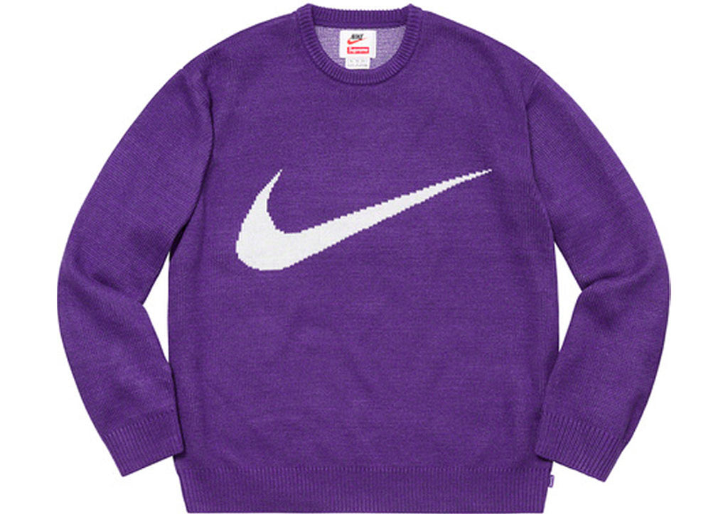outlet boutique best online online shop Supreme/Nike Swoosh Sweater Purple