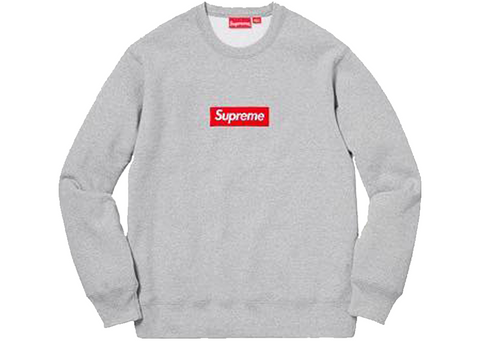 Supreme Box Logo Crewneck FW18 Grey