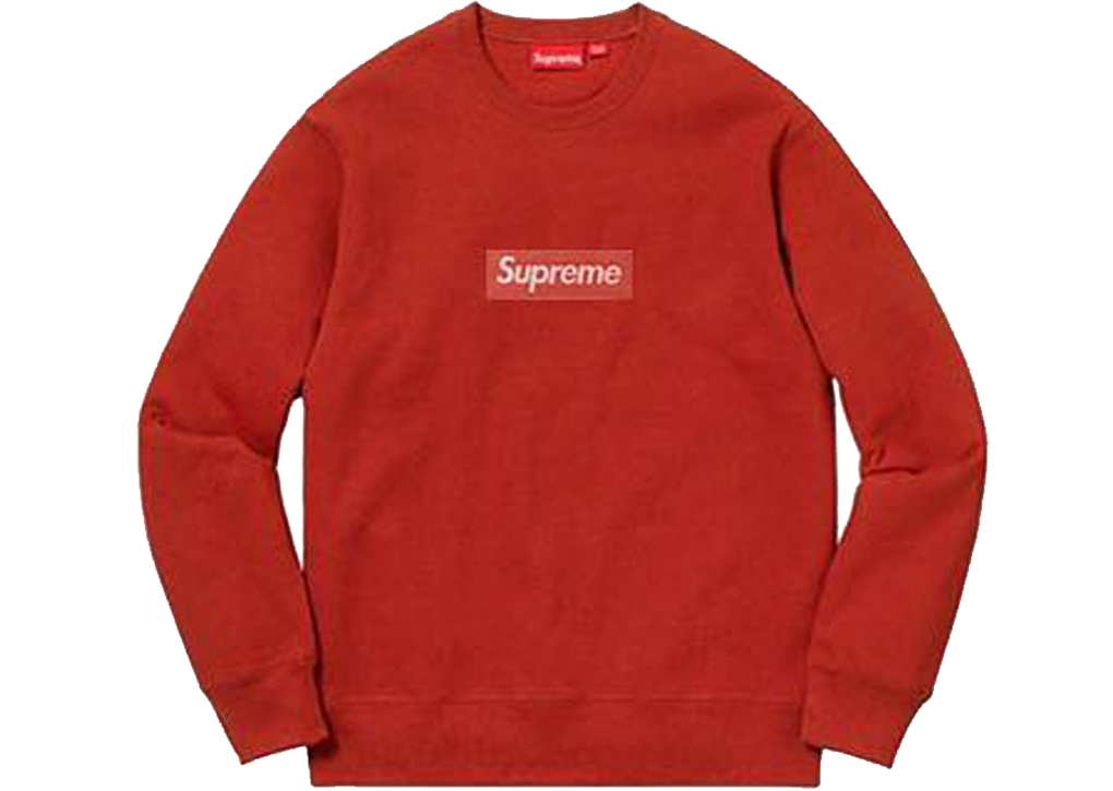 reputable site 6e5dc 09f92 Supreme Box Logo Crewneck FW18 Red