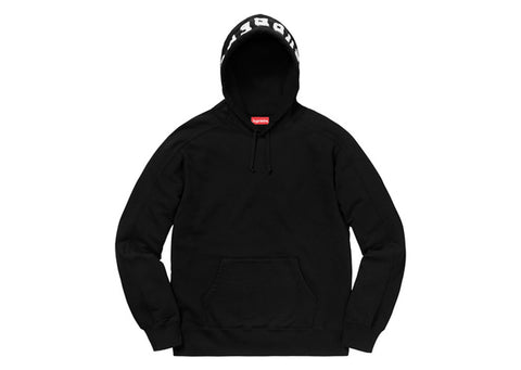 Supreme Paneled Hooded Sweatshirt Black