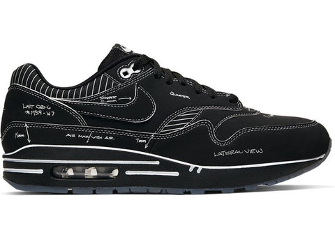 Air Max 1 Tinker Schematic Black