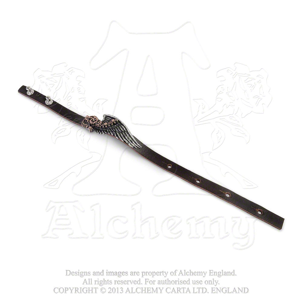 Alchemy Empire: Steampunk The Black Baron Technician's Wingstrap Bracelet from Gothic Spirit
