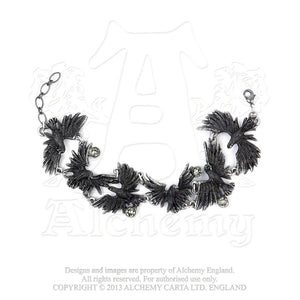Alchemy Gothic Flocking Ravens Bracelet from Gothic Spirit