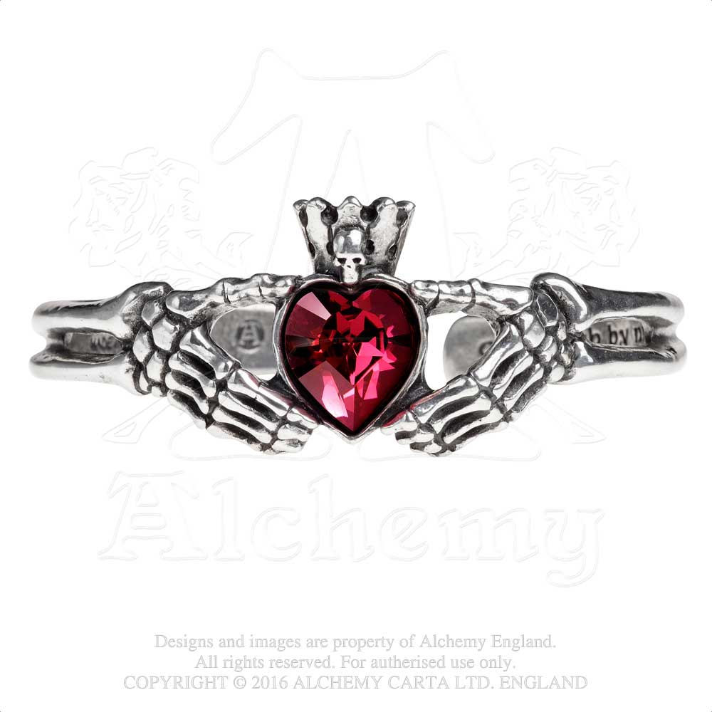 Alchemy Gothic Claddagh By Night Bracelet from Gothic Spirit