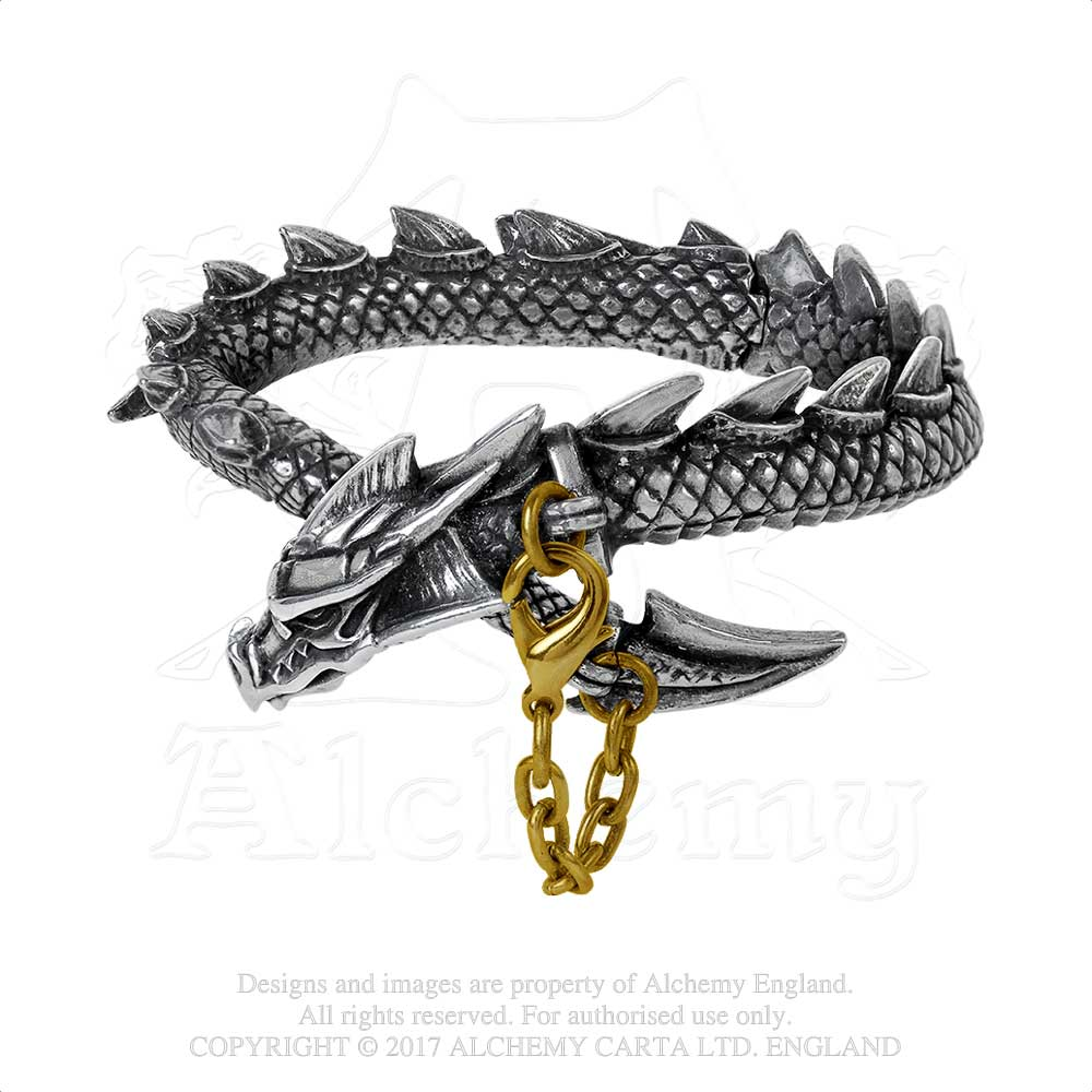 Alchemy Gothic Dragon's Lure Bangle Bracelet - Gothic Spirit